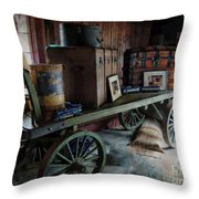 Remnants Of A Rr Station Throw Pillow