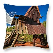 Remnants Of The Colorado Gold Rush Throw Pillow