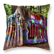 Remnants Of The Whister Train Wreck Throw Pillow