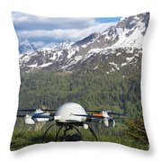 Remote Controlled Helicopter Throw Pillow