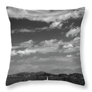 Remote Desert Road To Mountains Throw Pillow