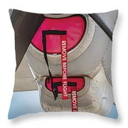 Remove Before Flight Throw Pillow