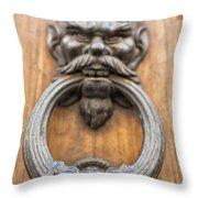 Renaissance Door Knocker Throw Pillow