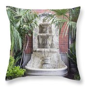 Renaissance Style Water Fountain Throw Pillow