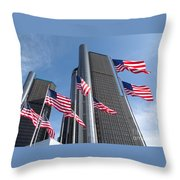 Rencen And Flags Throw Pillow