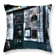 Rendez Vous Paris France Throw Pillow
