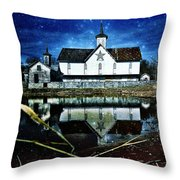 Rendezvous Amidst The Reeds Throw Pillow by Kevyn Bashore