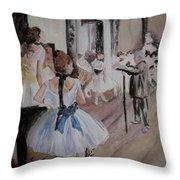 Dance Class By Degas Throw Pillow