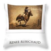 Renee Rubichaud At End Of Trail Throw Pillow