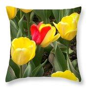 Renegade Tulip Throw Pillow