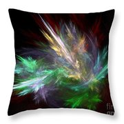 Renewal / Spring Puff Throw Pillow by Elizabeth McTaggart