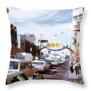 Reno At Mid Century Throw Pillow