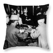 Reno Gambling, 1910 Throw Pillow