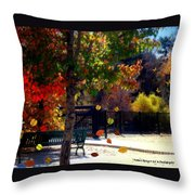 Reno Riverwalk In The Fall Throw Pillow
