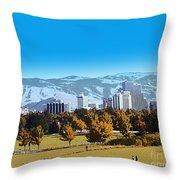 Reno Skyline Poster Throw Pillow