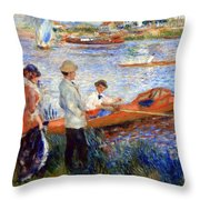 Renoir's Oarsmen At Chatou Throw Pillow