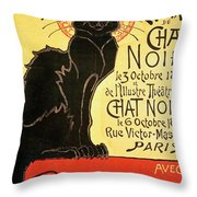 Reopening Of The Chat Noir Cabaret Throw Pillow