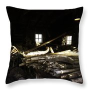 Repair Shop Throw Pillow
