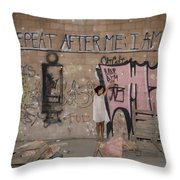 Repeat After Me  Throw Pillow