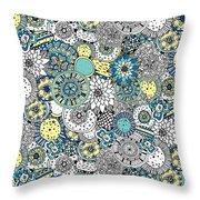 Repeat Print - Floral Burst Throw Pillow
