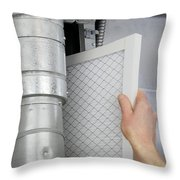 Replace Home Air Filter Throw Pillow
