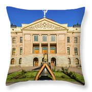 Replica Of Liberty Bell In Front Throw Pillow