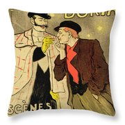 Reproduction Of A Poster Advertising Mothu And Doria In Impressionist Scenes Throw Pillow