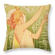 Reproduction Of A Poster Advertising 'robette Absinthe' Throw Pillow