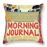 Reproduction Of A Poster Advertising The Morning Journal Throw Pillow