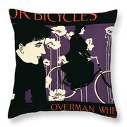 Reproduction Of A Poster Advertising Victor Bicycles Throw Pillow