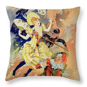 Reproduction Of A Poster Throw Pillow