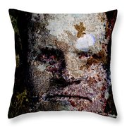 Reptile Man Throw Pillow by Christopher Gaston