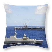 Republic Of Singapore Frigate Rss Throw Pillow