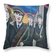 Republican Murals Against British Rule Throw Pillow