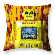 Rescue Robot Throw Pillow