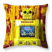 Rescue Robot Throw Pillow