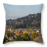 Residential Homes In Suburban North America Throw Pillow