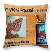 Resin Pendant With Butterfly And Sky Throw Pillow