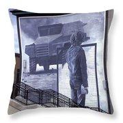 Derry Mural Resistance Throw Pillow