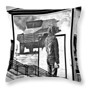 Resistance Mural In Derry Throw Pillow