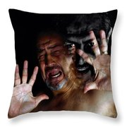 Resisting The Dark Side Throw Pillow by Camille Lopez