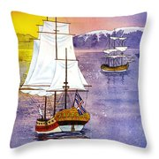 Resolution In Cook Inlet Throw Pillow