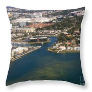 Resort City In The South Throw Pillow