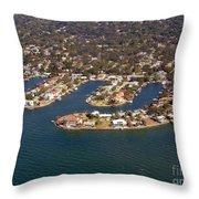 Resort City Throw Pillow