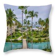 Resort In Dominican Republic Throw Pillow