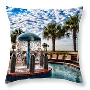 Resort Pool Throw Pillow
