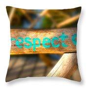 Respect Caye Caulker  Throw Pillow
