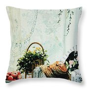 Rest From Garden Chores Throw Pillow