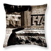 Rest Hart Bw Throw Pillow