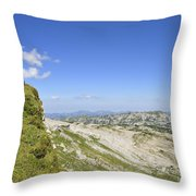 Rest In Beautiful Mountain Landscape Throw Pillow by Matthias Hauser